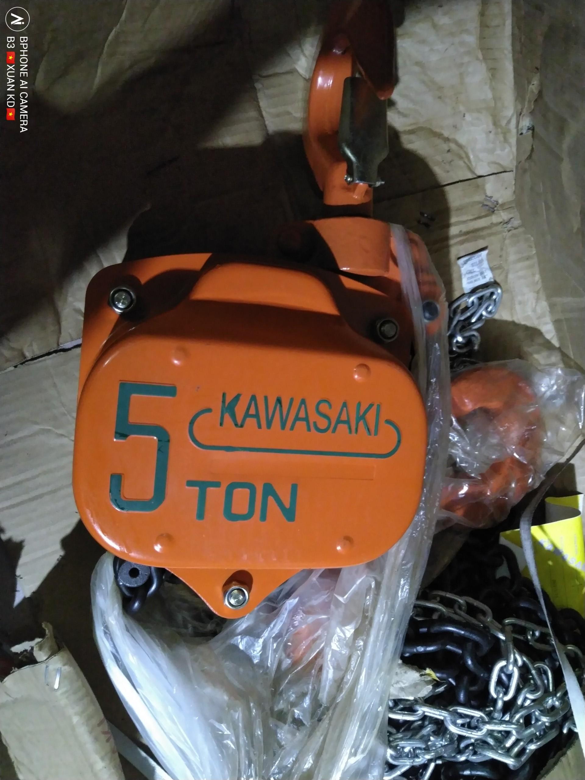 Pa lăng xích kéo tay 5 tấn Kawasaki giá tốt nhất, pa lăng kéo tay 5 tấn