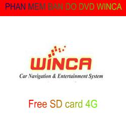 Phần mềm bản đồ dẫn đường cho DVD Winca
